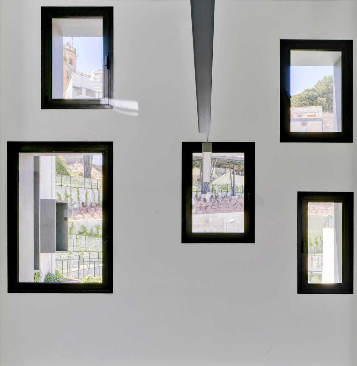 Vistas a través de las ventanas del CPEC, Cehegín, Murcia
