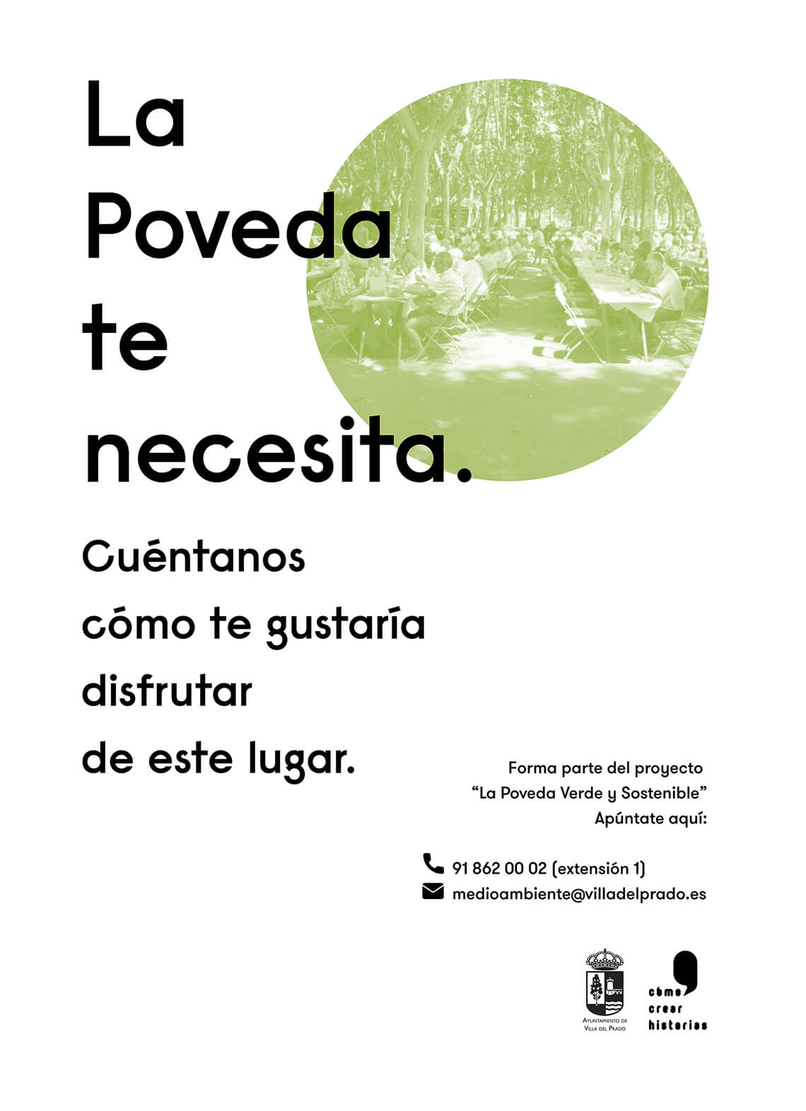 Cartel Participación Ciudadana La Poveda Verde y Sostenible